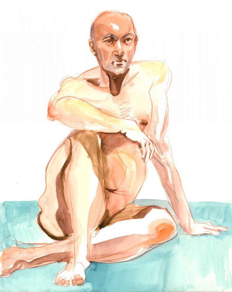 Figure study, watercolor, 2016