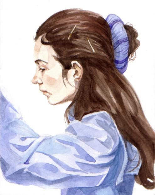 Figure study, watercolor, 2010