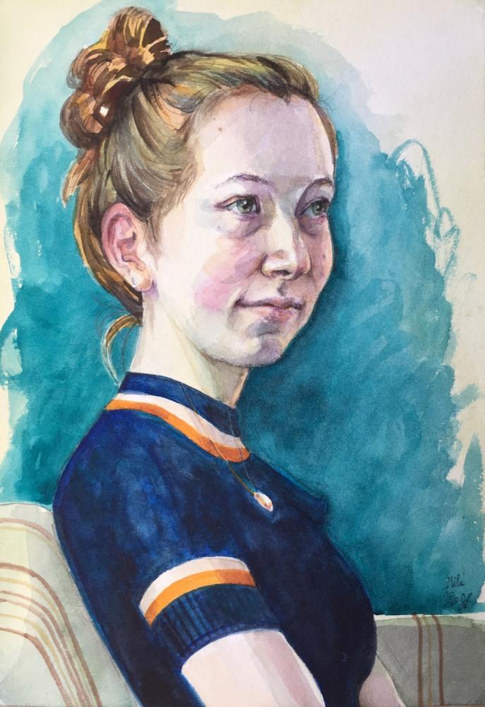 Mila, watercolor, 2020