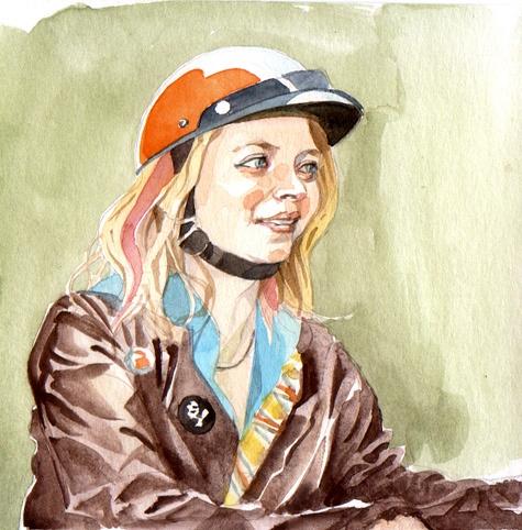 Figure study, watercolor, 2011
