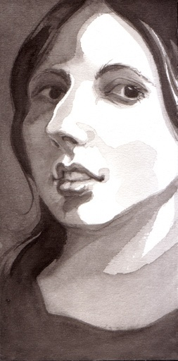 Figure study, ink, 2013