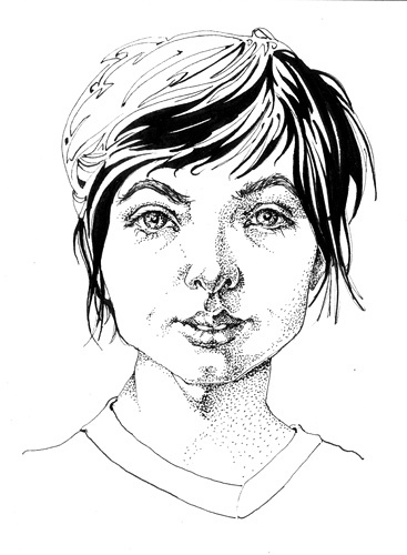 Portrait study, ink-pen, 2011