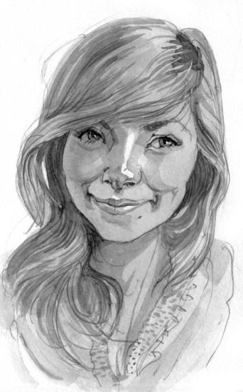Portrait study,  Ink, 2012
