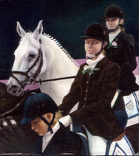 Horsewomen, Oli color, 1997