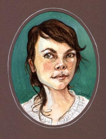 Romy, watercolor, 2010
