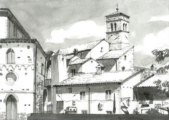 Bevagna, ink, 2013