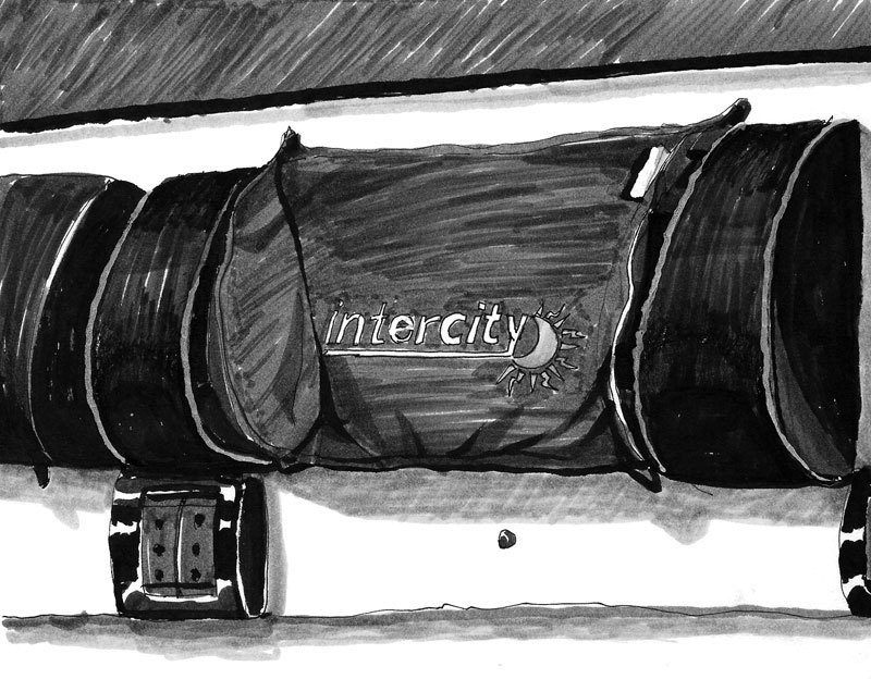intercity, ink pens, 2016