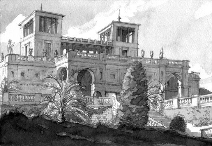 Orangerie Potsdam, Ink, 2012