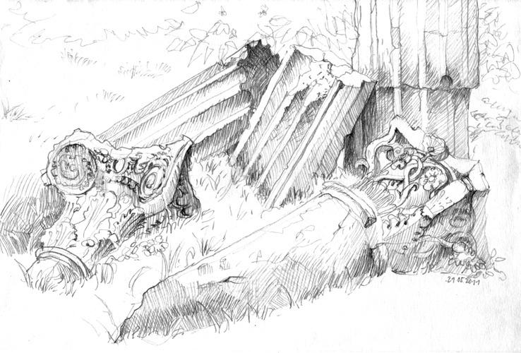 Ruinen Park Klein Glienicke, Pencil, 2011