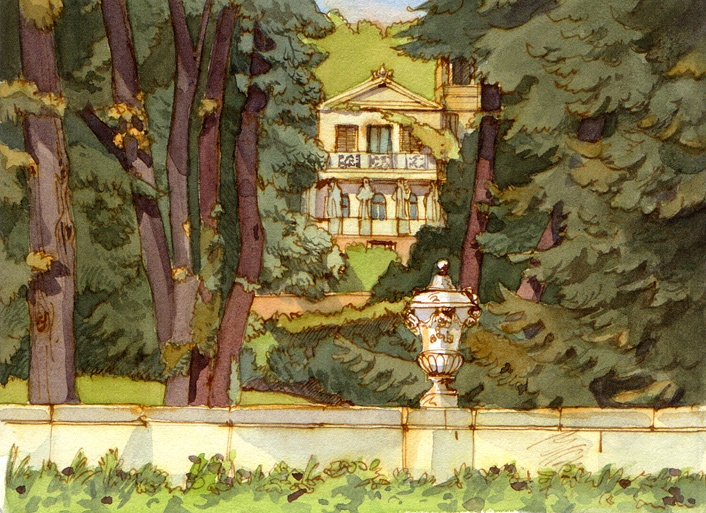 Park Sanssouci, watercolor, 2011