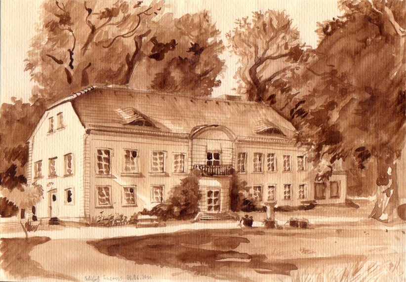 Schloss Sacrow, watercolor, 2011