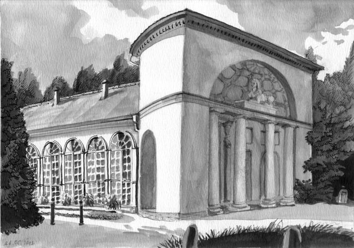 Orangerie Neuer Garten, Ink, 2012