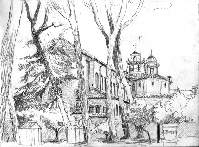 Santa Sabina Rome, Pencil, 2010