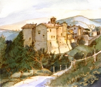 Collemancio, watercolor, 2010