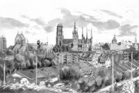 Gdańsk panorama, Ink, 2012