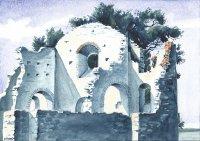 San Secondo, Isola Polvese, watercolor, 2015