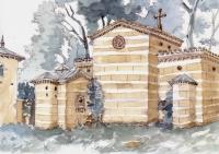Klosterhof Klein-Glienicke, watercolor, 2010