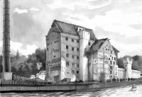 Speicherstadt Potsdam, Ink, 2012